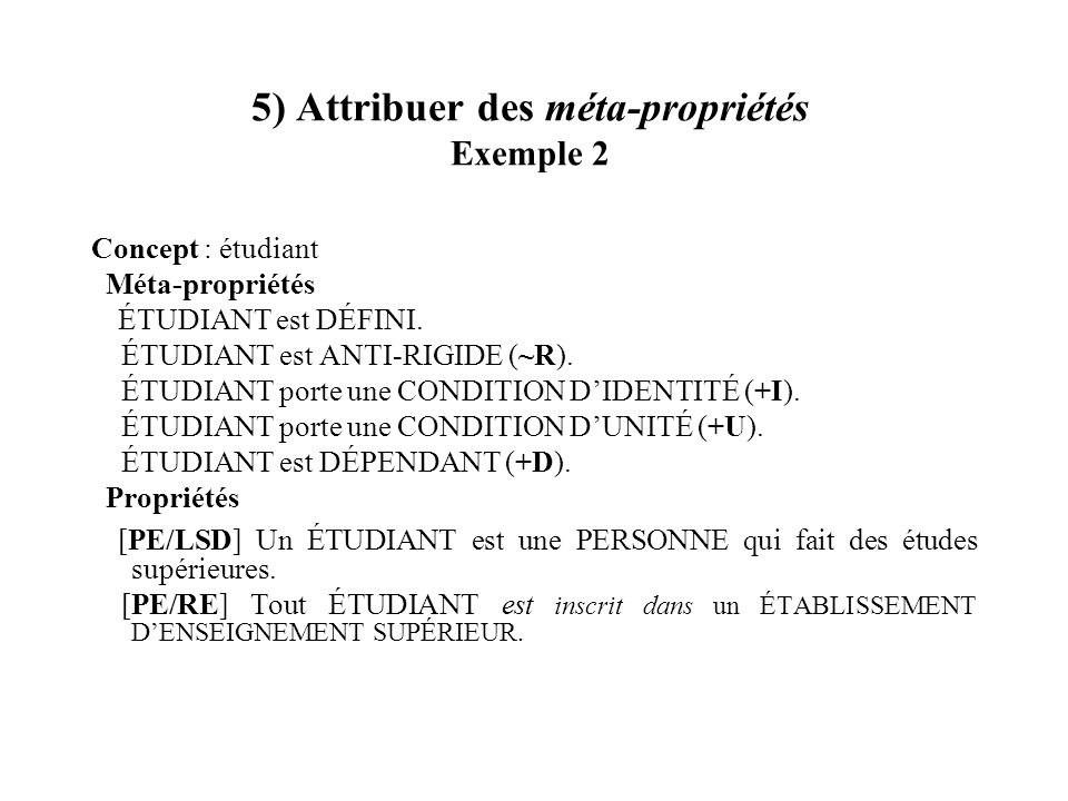 5) Attribuer des méta-propriétés Exemple 2