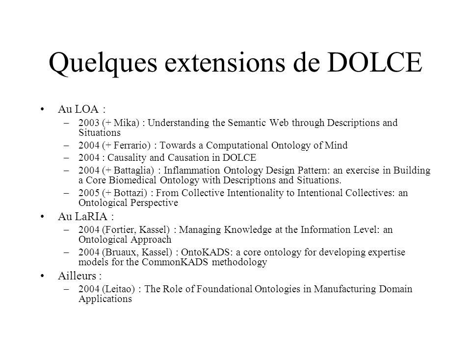 Quelques extensions de DOLCE