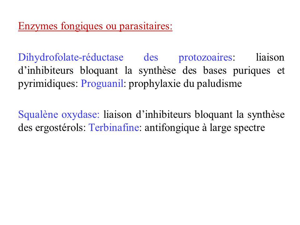 Enzymes fongiques ou parasitaires: