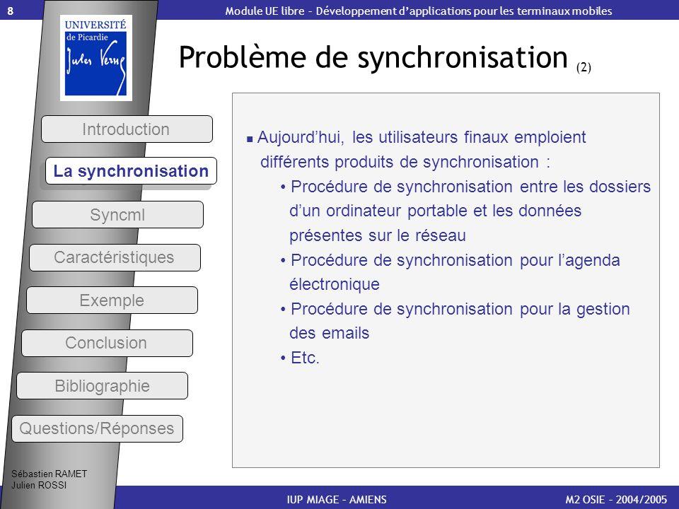 Problème de synchronisation (2)
