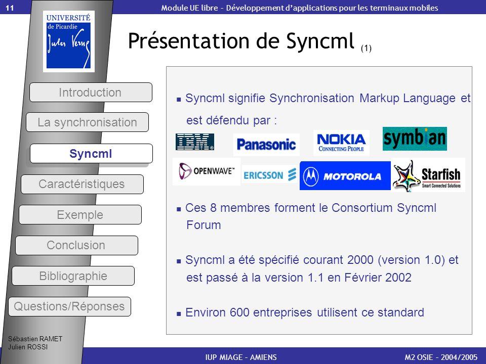 Présentation de Syncml (1)
