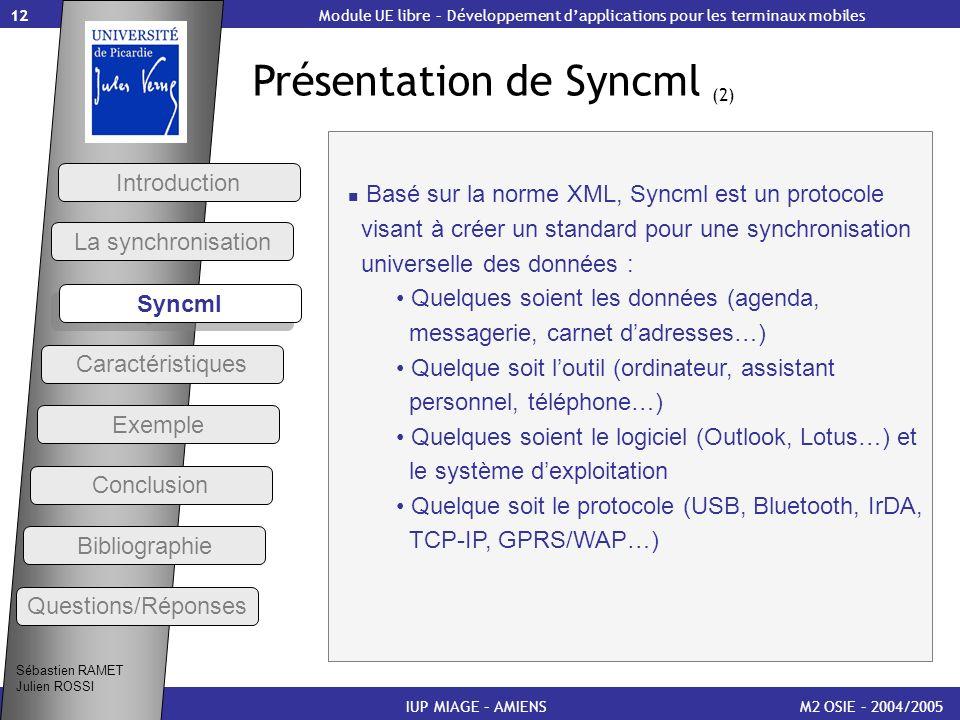 Présentation de Syncml (2)