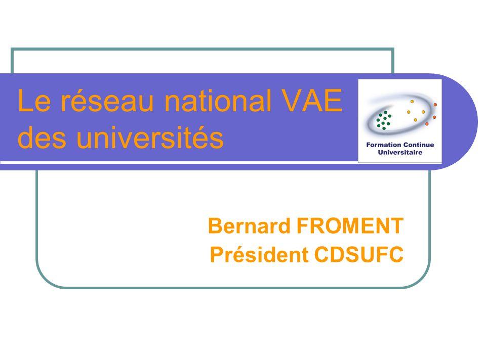 Le réseau national VAE des universités