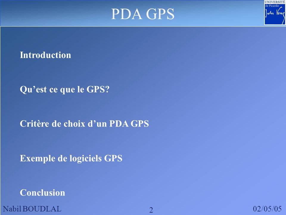 PDA GPS Introduction Qu'est ce que le GPS