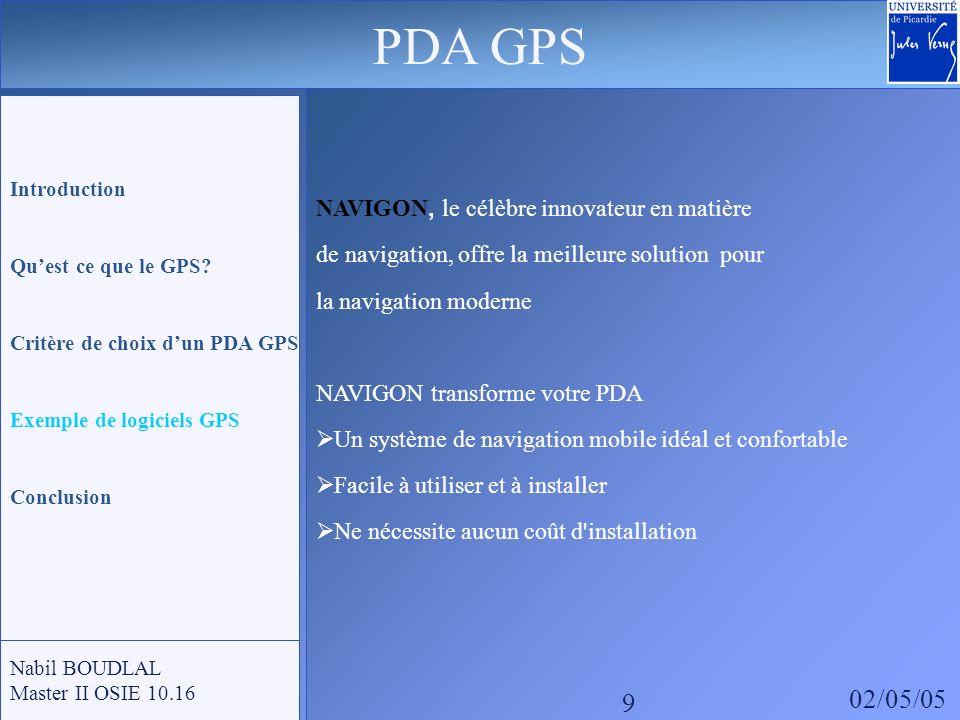 PDA GPS 02/05/05 9 NAVIGON, le célèbre innovateur en matière