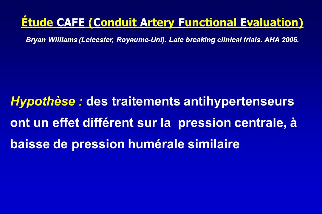 Étude CAFE (Conduit Artery Functional Evaluation)