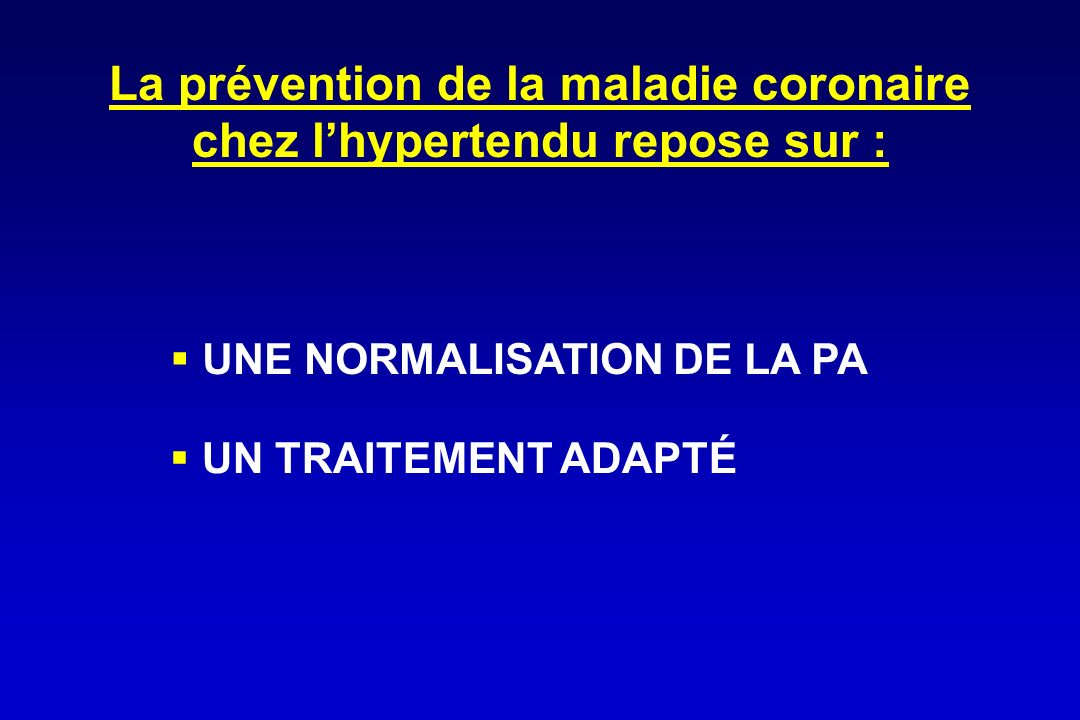 La prévention de la maladie coronaire chez l'hypertendu repose sur :