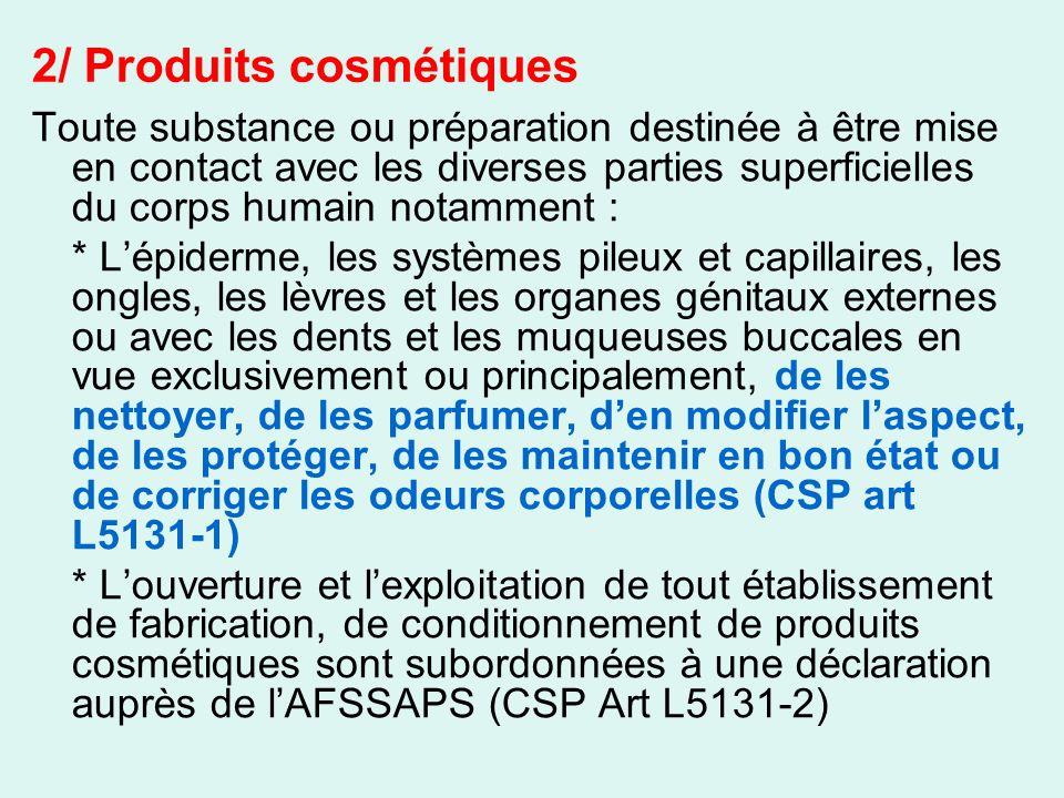 2/ Produits cosmétiques