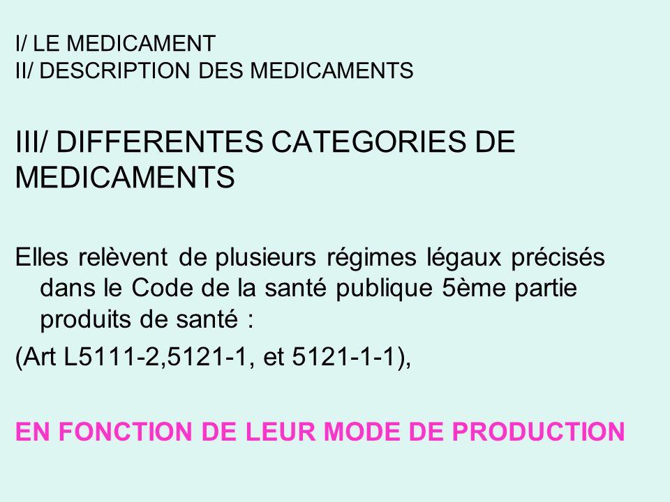 EN FONCTION DE LEUR MODE DE PRODUCTION