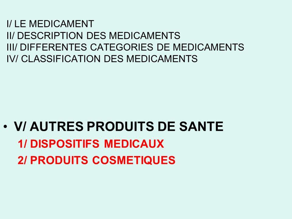 V/ AUTRES PRODUITS DE SANTE