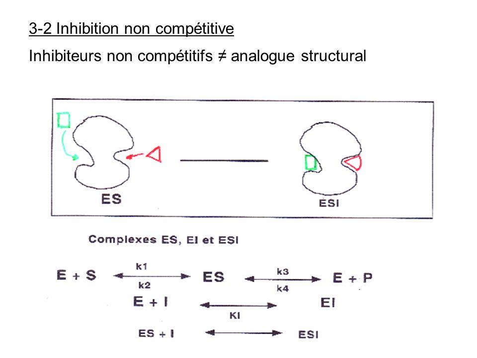 3-2 Inhibition non compétitive