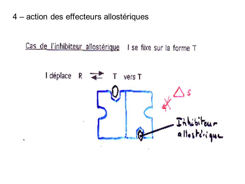 4 – action des effecteurs allostériques