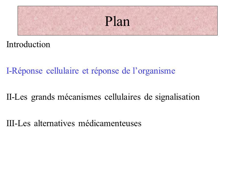 Plan Introduction I-Réponse cellulaire et réponse de l'organisme