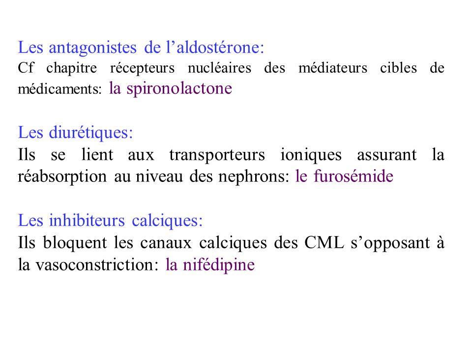 Les antagonistes de l'aldostérone: