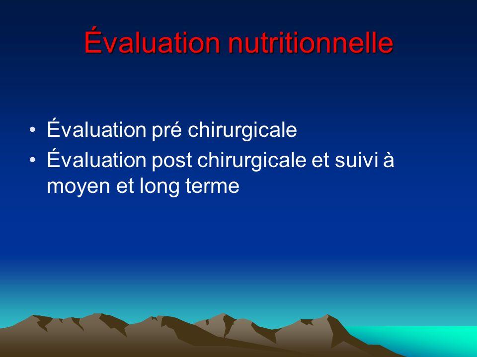 Évaluation nutritionnelle
