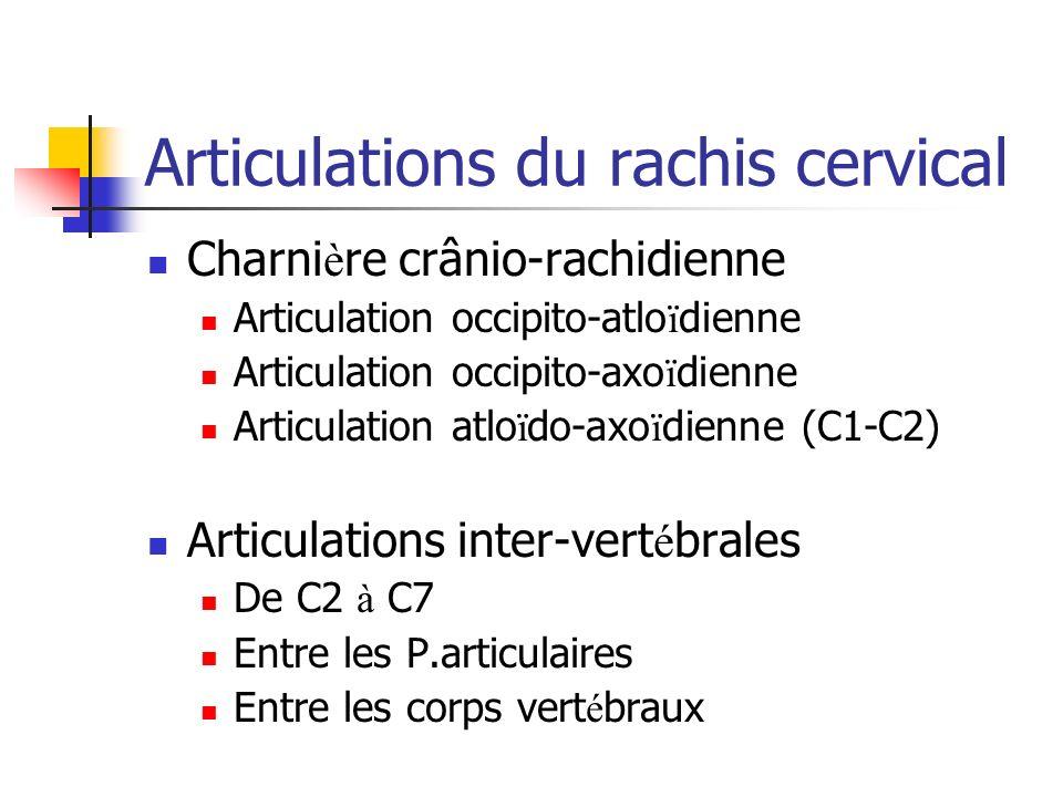 Articulations du rachis cervical