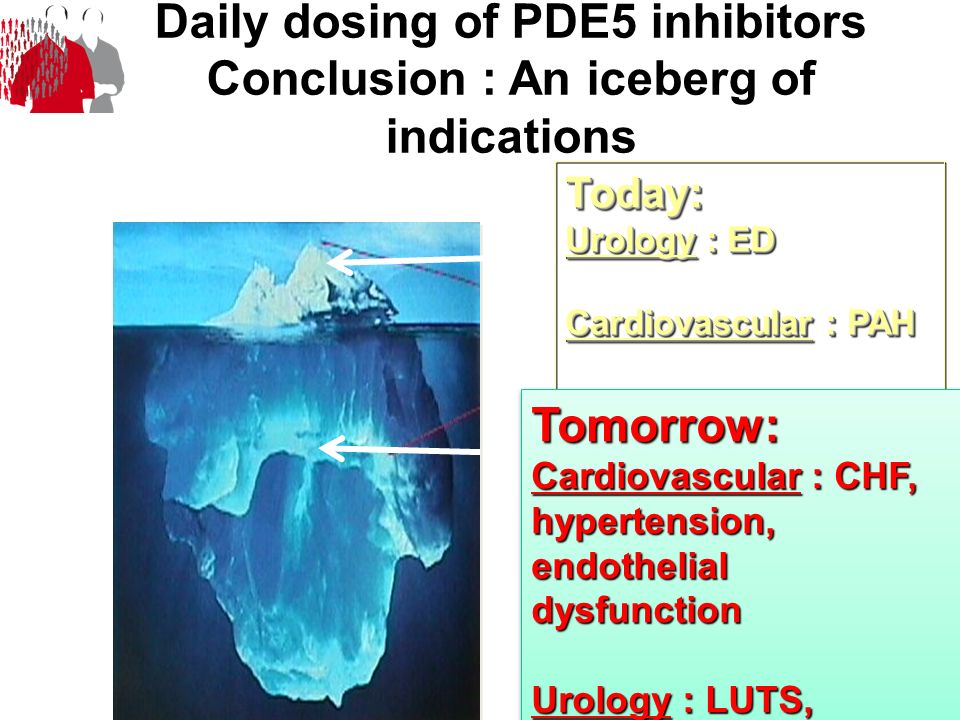 Daily dosing of PDE5 inhibitors Conclusion : An iceberg of indications