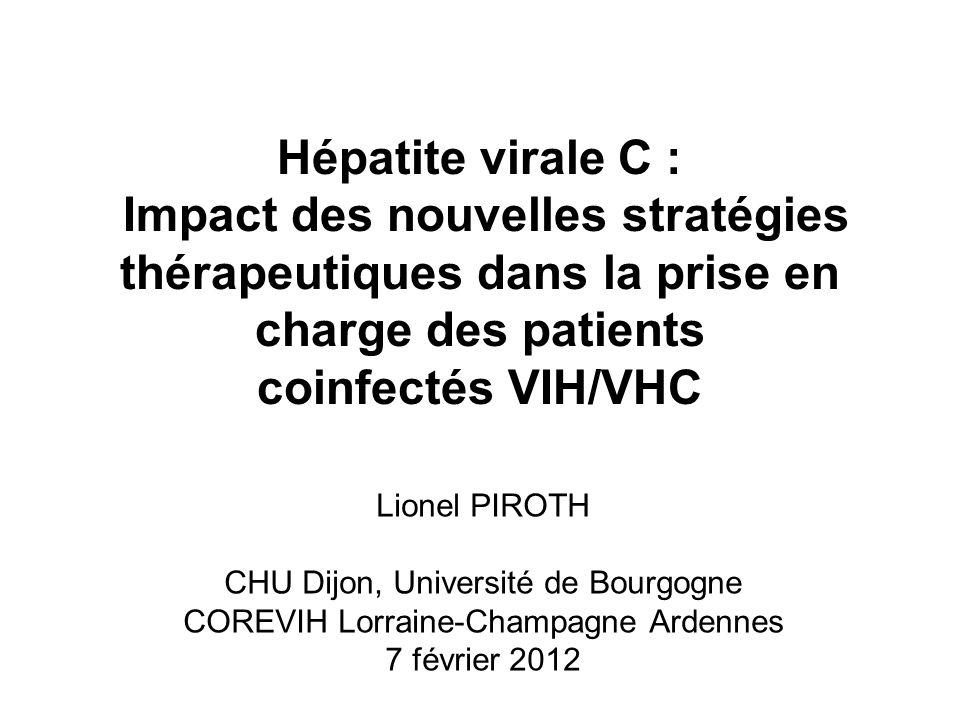 Hépatite virale C : Impact des nouvelles stratégies thérapeutiques dans la prise en charge des patients coinfectés VIH/VHC