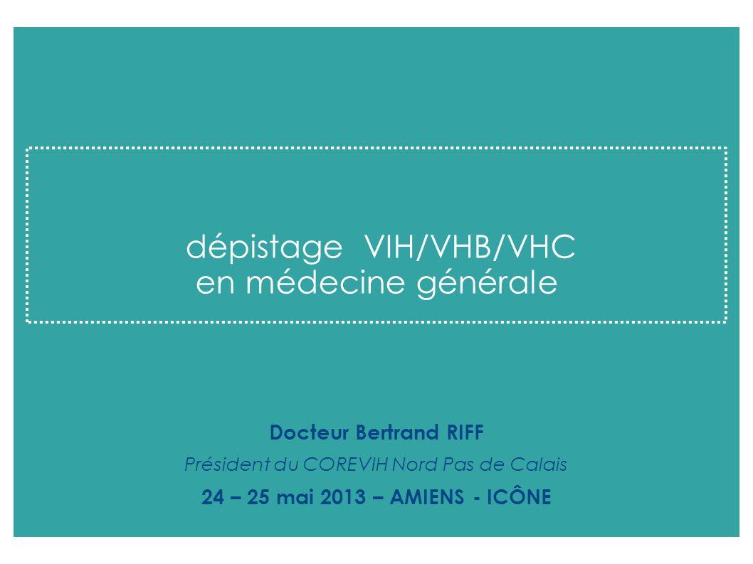 dépistage VIH/VHB/VHC en médecine générale