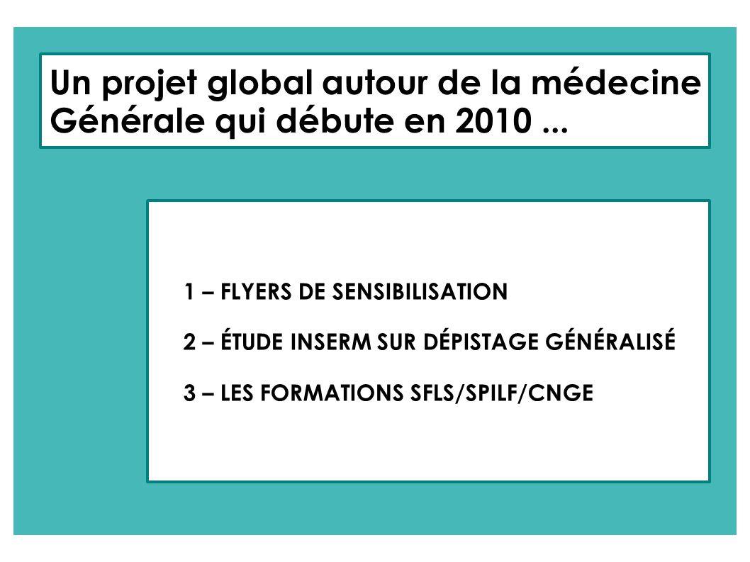 Un projet global autour de la médecine Générale qui débute en 2010 ...