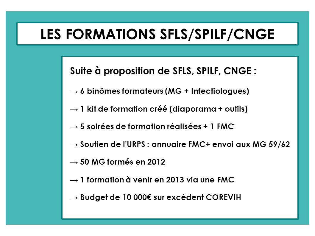 LES FORMATIONS SFLS/SPILF/CNGE
