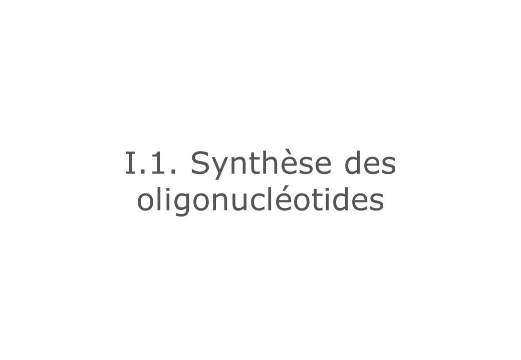 I.1. Synthèse des oligonucléotides