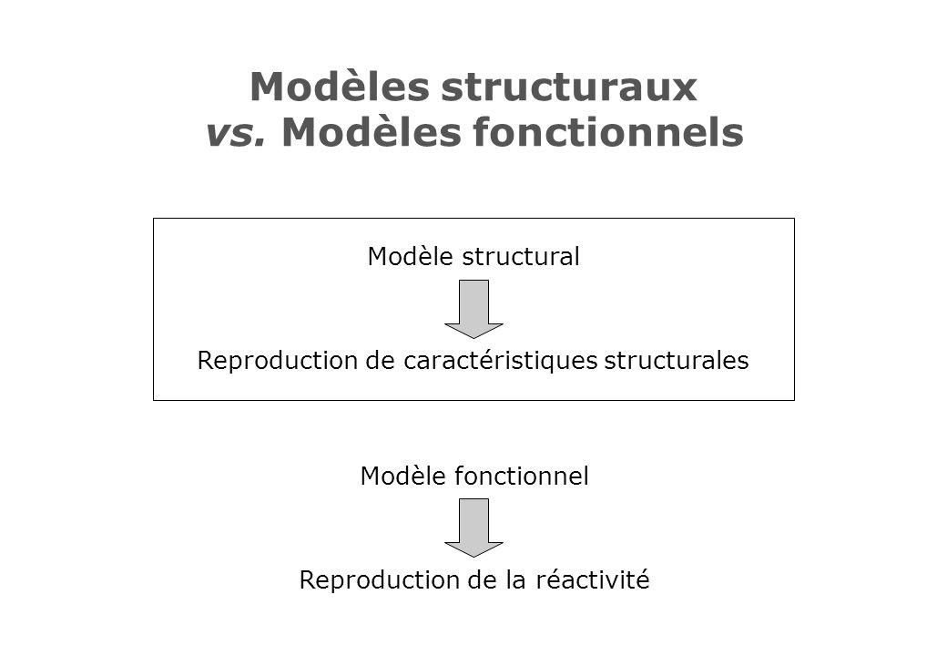 Modèles structuraux vs. Modèles fonctionnels