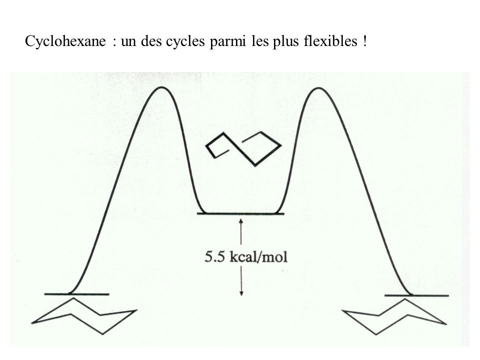 Cyclohexane : un des cycles parmi les plus flexibles !