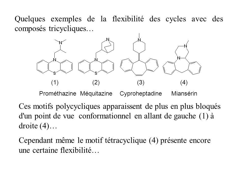 Quelques exemples de la flexibilité des cycles avec des composés tricycliques…