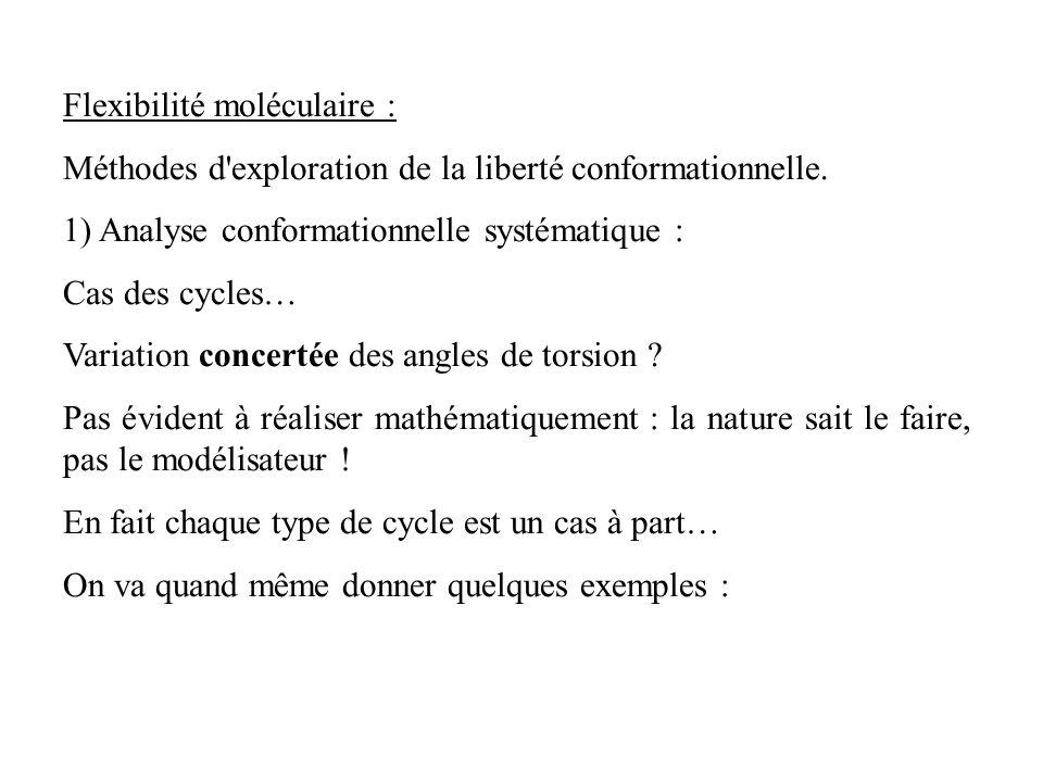 Flexibilité moléculaire :