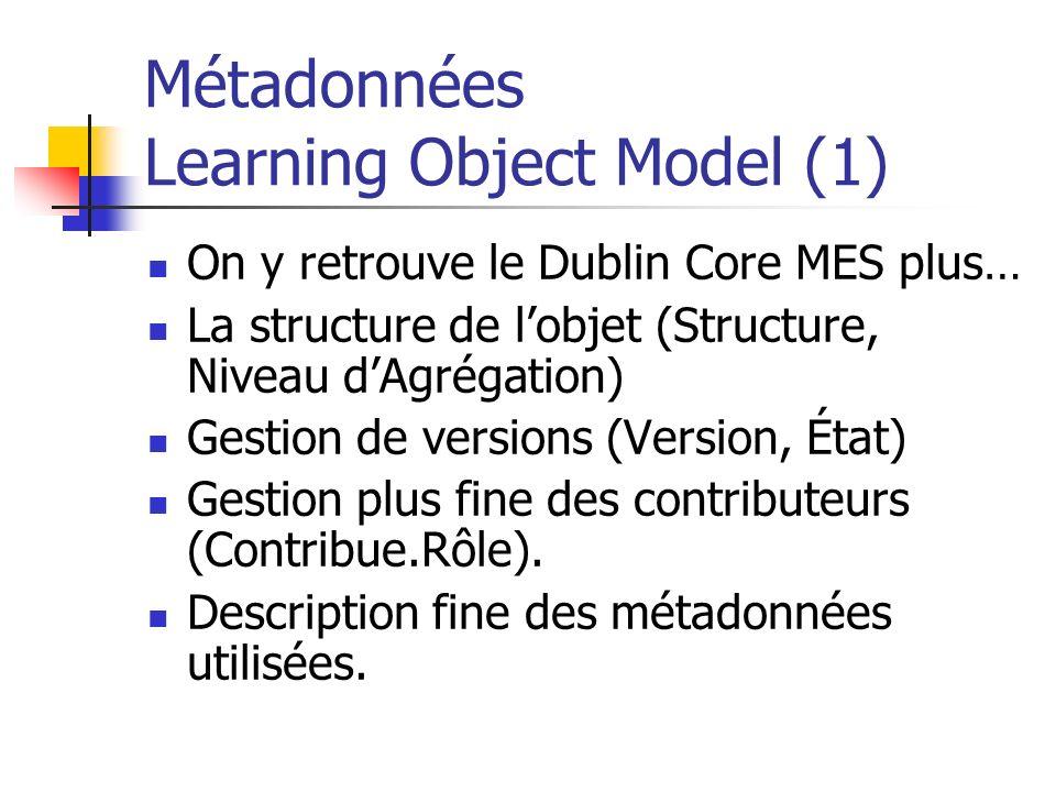 Métadonnées Learning Object Model (1)