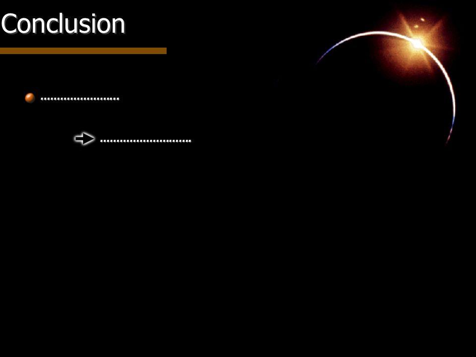 Conclusion …………………... ……………………….
