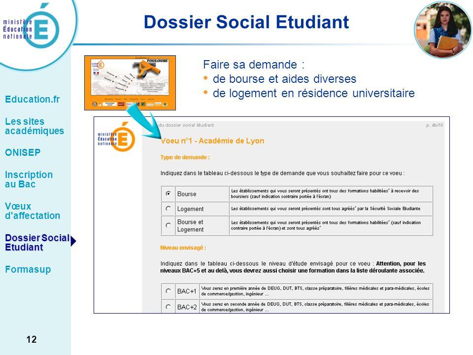 Dossier Social Etudiant