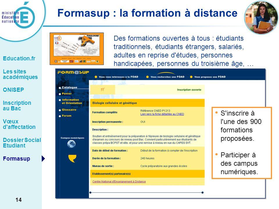 Formasup : la formation à distance