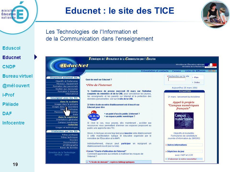 Educnet : le site des TICE