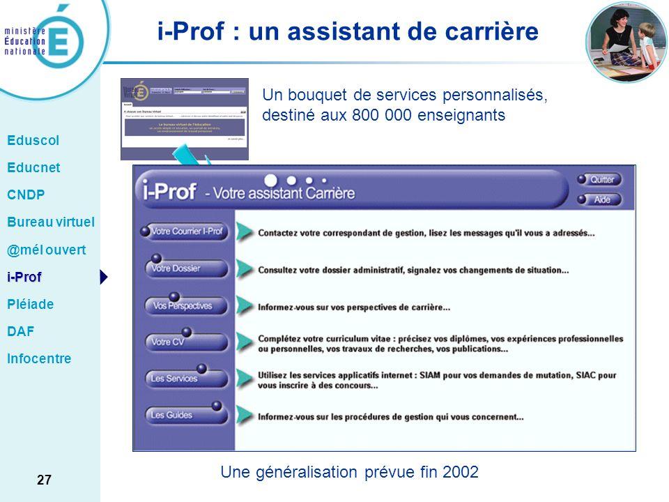 i-Prof : un assistant de carrière