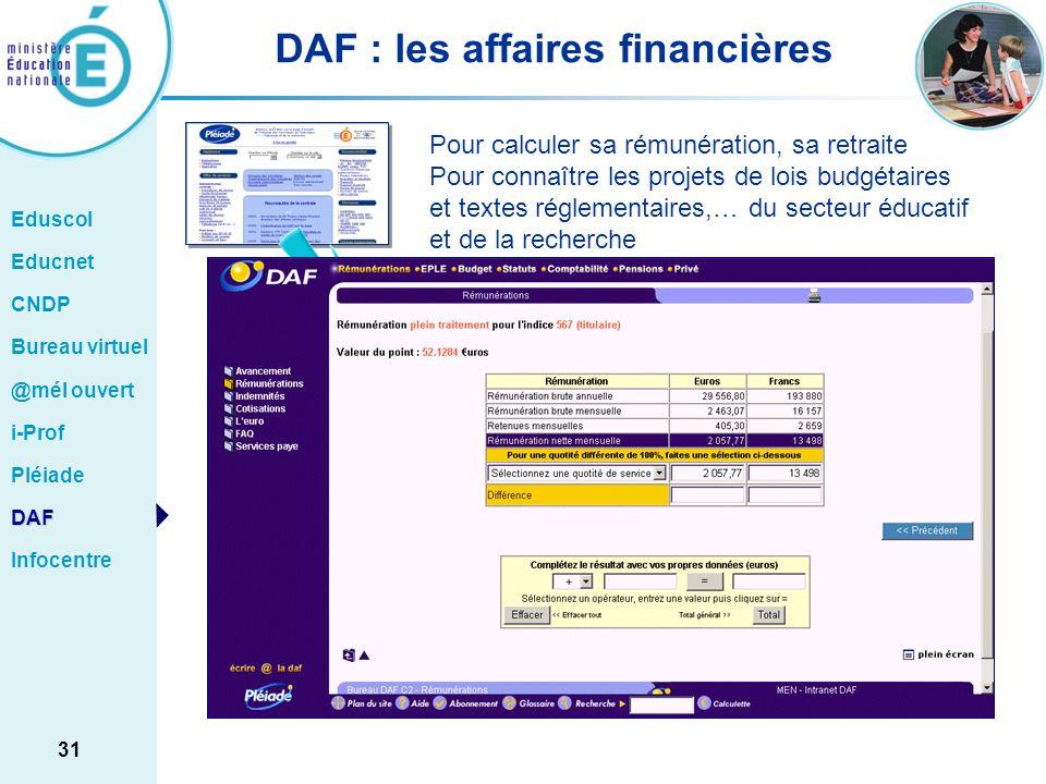 DAF : les affaires financières