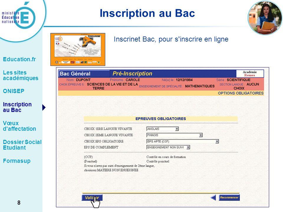 Inscription au Bac Inscrinet Bac, pour s inscrire en ligne