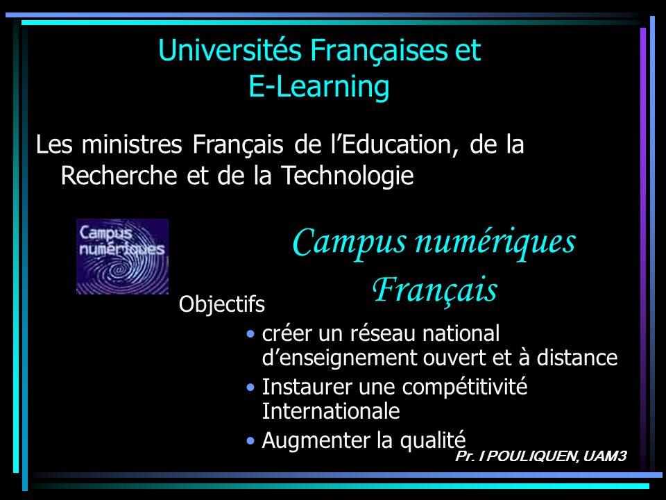 Universités Françaises et E-Learning