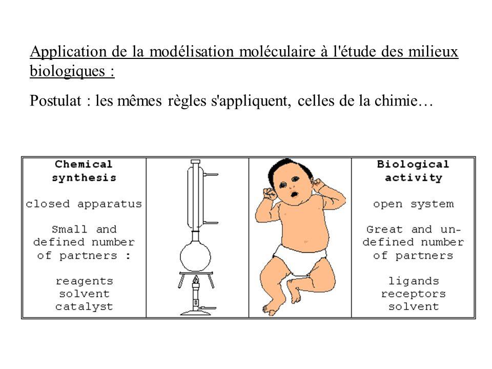 Application de la modélisation moléculaire à l étude des milieux biologiques :