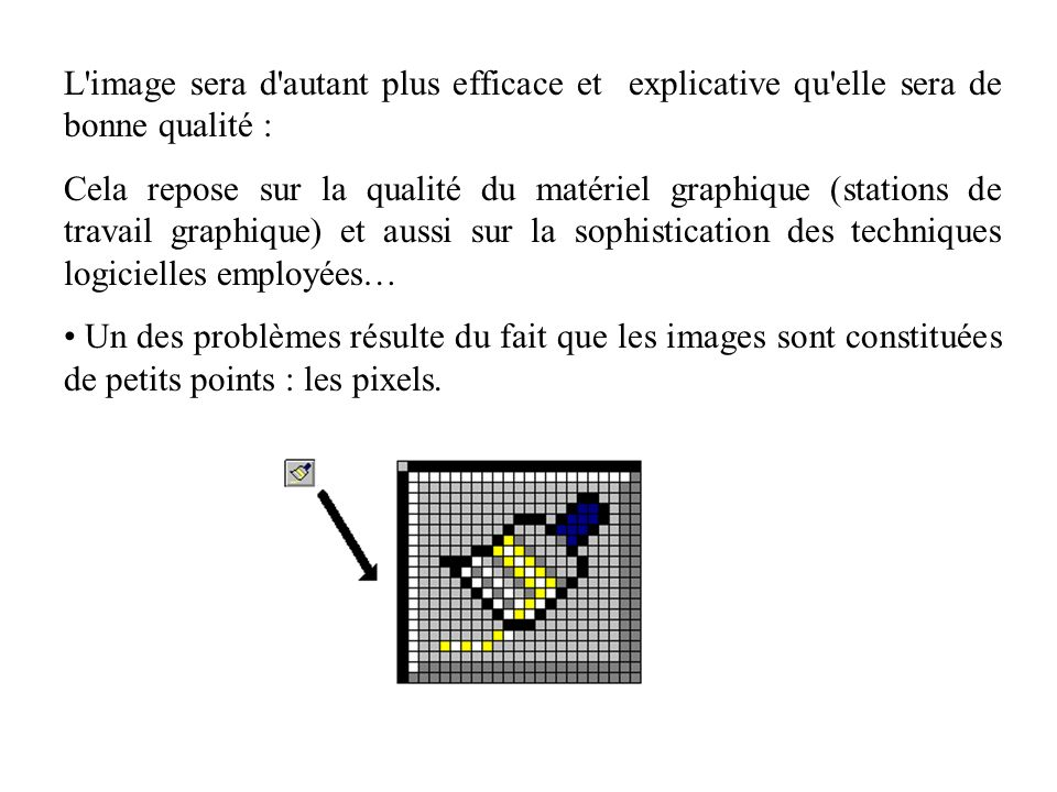 L image sera d autant plus efficace et explicative qu elle sera de bonne qualité :