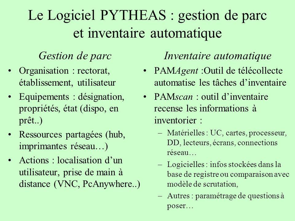 Le Logiciel PYTHEAS : gestion de parc et inventaire automatique
