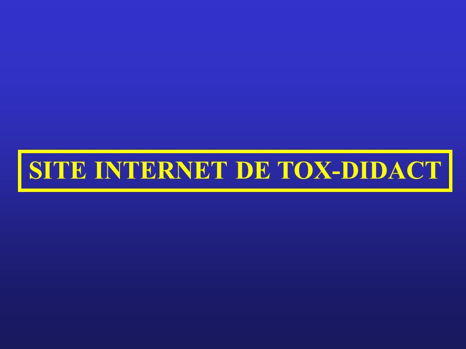 SITE INTERNET DE TOX-DIDACT