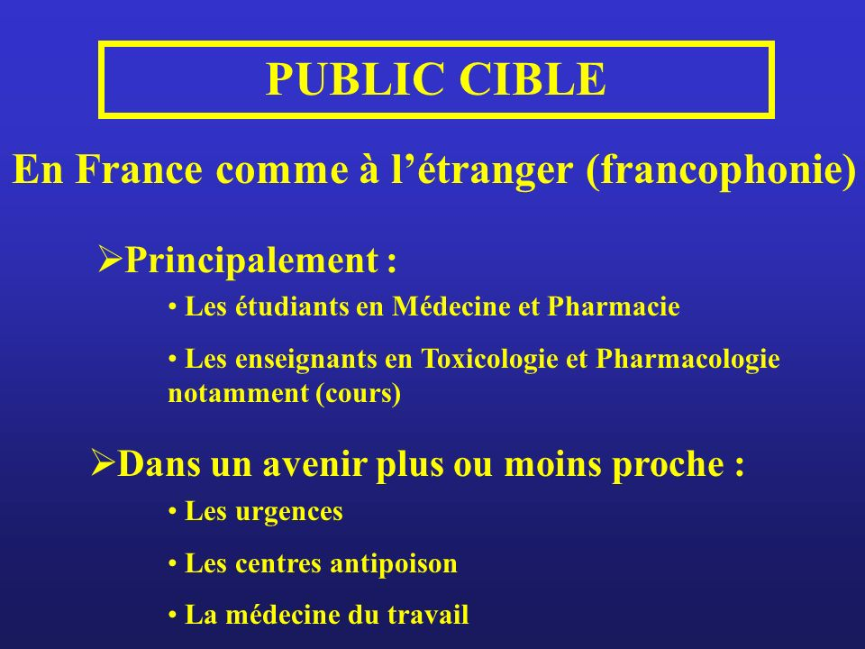 En France comme à l'étranger (francophonie)