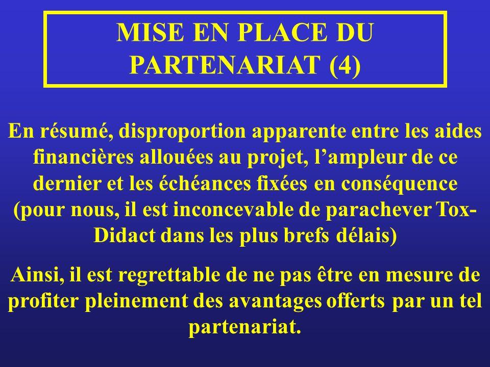 MISE EN PLACE DU PARTENARIAT (4)