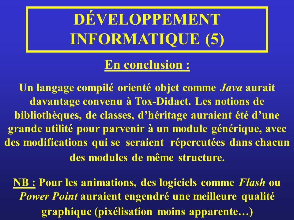 DÉVELOPPEMENT INFORMATIQUE (5)