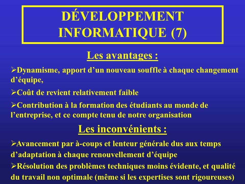 DÉVELOPPEMENT INFORMATIQUE (7)