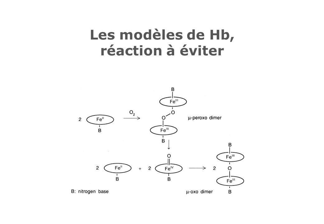 Les modèles de Hb, réaction à éviter