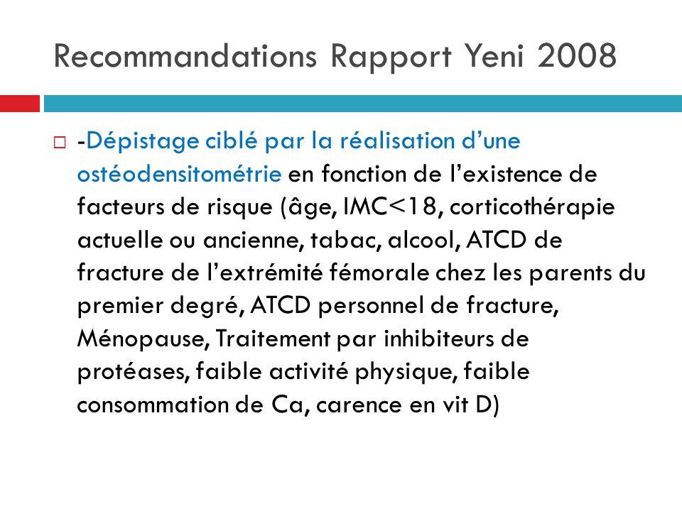Recommandations Rapport Yeni 2008