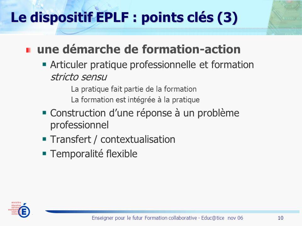 Le dispositif EPLF : points clés (3)